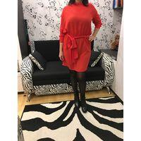 Платье 44-46 вечернее коктейльное клубное цвет красный коралловый
