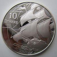 Андорра. 10 динеров (экю) 1996. Серебро. Пруф. 216
