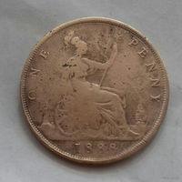 1 пенни, Великобритания 1888 г., королева Виктория