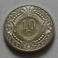 10 центов, Нидерландские Антильские острова, (Антиллы) 1999 г., UNC