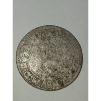 6 грошей1667г серебро . Яна Казимира