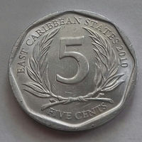 5 центов, Восточные Карибы 2010 г.
