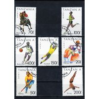Танзания.Летние виды спорта.Футбол,Баскетбол,Бег,Конный спорт,Бокс,Хоккей на траве,Прыжки в воду.1993.
