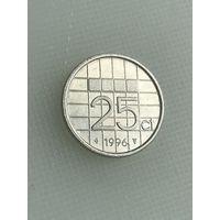 25 центов 1996 г., Нидерланды