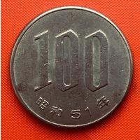 02-35 Япония, 100 йен 1976 г. Единственное предложение монеты данного года на АУ