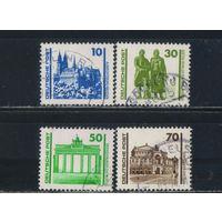 Германия ГДР 1990 Здания и памятники Стандарт Мейсен Веймар Берлин Дрезден#3344-6,3348