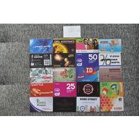 20 разных карт (дисконт,интернет,экспресс оплаты и др) лот 5