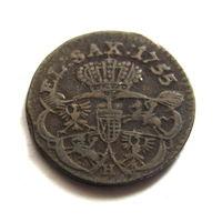 Грош 1755 Н  Август III