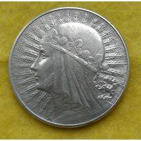10 злотых 1932 г Ядвига Сохран Знак под лапой