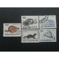 Дания 1975 фауна полная серия