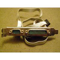 Шлейф DB25M(LPT)+DB9M(COM) на планке