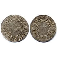 Полугрош 1510, Жигимонт Старый, Вильно. Окончания легенд: Ав - ':1510:', Рв - 'LITVANIE'