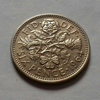 6 пенсов, Великобритания 1964 г.