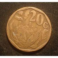 Южная Африка. ЮАР. 20 центов 1993 год