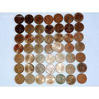 Монеты Корея с рубля.