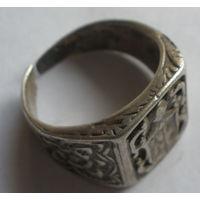 Кольцо серебряное старое
