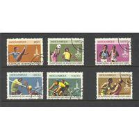 Марка Мозамбик 1980 год.  Спорт. олимпиада. Гашеная. Серия из 6 марок 765-770