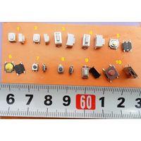 Кнопки для ремонта телефонов, планшетов и пр. тактовые микро микрик ассорти SMD