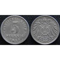 YS: Германия, 5 пфеннигов 1919D, KM# 19 (1)