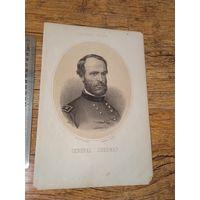 Гравюра США Генерал Шерман 1890 гг