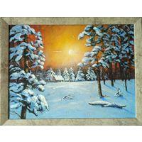 """Картина """"Зимний лес!"""