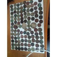 Монеты вкл более 100 штук