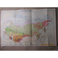 Карта природных зон Союза ССР,редактор Скрылёва С.Г.,Учпедгиз,1951 год