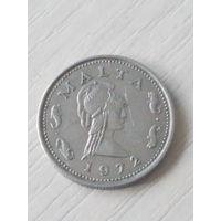 Мальта 2 цента 1972г.