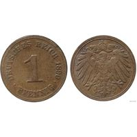 YS: Германия, Рейх, 1 пфенниг 1890A, KM# 10  (2)