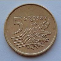 Польша 5 грошей. 1991