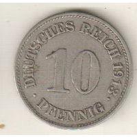 Германия 10 пфенниг 1913 Е