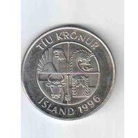 10 крон 1996 года Исландии  30