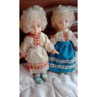 Две куколки ссср  в национальной белорусской одежде