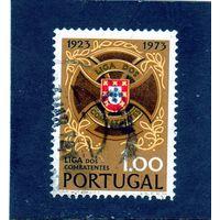 Португалия.Ми-1223.Знак Лиги и герб. Серия: Лига военнослужащих.1972.