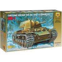 ЗВЕЗДА 3624 - Советский тяжелый танк КВ-1 с пушкой Л-11 1940 год / Сборная модель 1:35