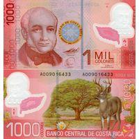 Коста-Рика. 1000 колон 2009. [UNC]