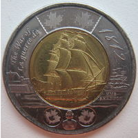 Канада 2 доллара 2012 г. Война 1812 года. Фрегат Шеннон