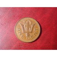 1 цент 1976 год Барбадос (10 лет независимости)