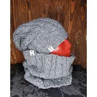 Мужской зимний комплект (шапка/снуд)