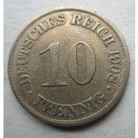 Германия. 10 пфеннигов 1908 A 71