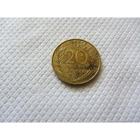 20 сантимов 1968 г.