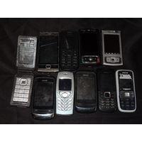 Мобильные телефоны Nokia 10 шт