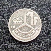 1 франк 1990 Бельгия KM# 170 никелевое покрытие