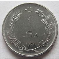 Турция 1 лира 1975