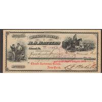 Чек 76 долларов 1913  США