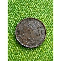 Цейлон 1 цент 1912 г