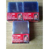 3 упаковки жестких протекторов (toploaders).