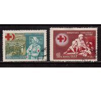 СССР-1956, (Заг.1800-1801)  гаш., Красный Крест