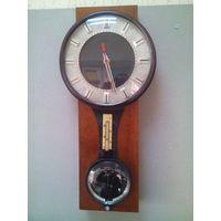 Часы Маяк барометр, термометр