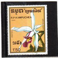 Камбоджа. Ми-980. Laelia anceps. Серия: Орхидеи. 1988.